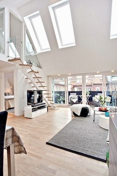 A beautiful light and open living room