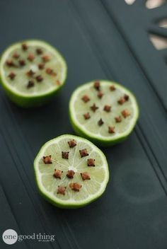 cloved limes for mosquito repellant