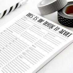 - - - - - - - - - - - - - ☞ BEST SELLER - - - - - - - - - - - - - -  Organize your life, one sheet of paper at a time! Super helpful for busy moms, makers, and more! - - - - - - - - - - - - ➩What you get - - - - - - - - - - - -  -8.5x11 -printed on 25, 50 or 100 pages of 70 lb. high-grade stationery paper -colored cardstock backing  - - - - - - - - - - - - ➩ How to order - - - - - - - - - - - -  In the drop down menu choose the number of sheets you would like to include. Then Choose the…