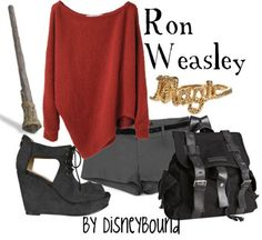 HP: Ron Weasley inspired outfit by Disneybound at: http://disneybound.tumblr.com/