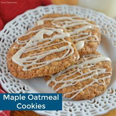 Maple Oatmeal Cookies take traditional oatmeal cookies up a notch with a maple glaze. Always a crowd pleaser, these cookies are great for parties and BBQs!