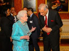 The Queen hosts a reception at Buckingham Palace for Commonwealth nations representatives 28 Oct 2013