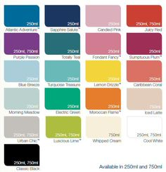 Dulux Made By Me Colour Chart Satin Paint Girls
