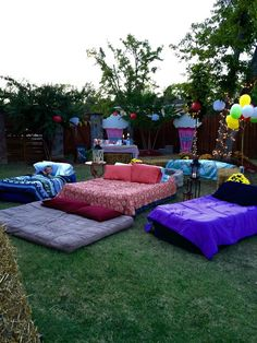 Air mattresses for movie night outside (Diy Crafts For Teenagers)