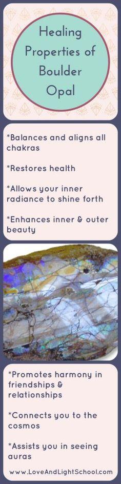 Healing Properties of Boulder Opal