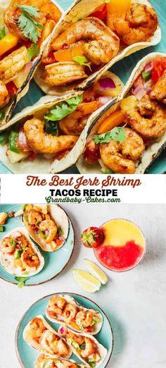 Fish Recipes, Seafood Recipes, Beef Recipes, Cooking Recipes, Healthy Recipes, Seafood Dishes, Jerk Shrimp, Shrimp Tacos, Party