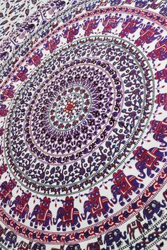 MAGICAL RING PARADE MANDALA Bed Room Decor Picnic sheets Beach Throws Dorm Wall Hanging Boho Tapestries