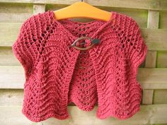 Bolero knitted from an old jersey sheet