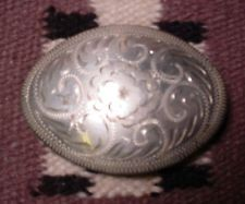 BEAUTIFUL Antique WESTERN FLAIR Hand Engraved Reversible Belt Buckle MAKE OFFER $185.00 or Best Offer Free shipping Item image