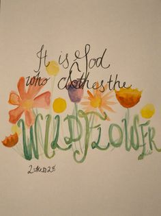 Wildflower bible verse watercolor illustration by gracelangdon, $15.00