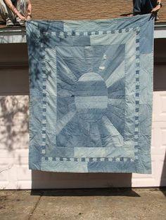 stone-belle: blue quilt