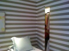 Hide a closet by wallpapering the door Wallpaper Door, How To Install Wallpaper, Mudroom, Blinds, Garage, Curtains, Doors, Closet, Diy