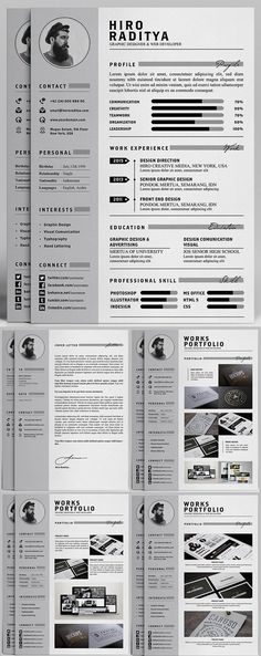 Free #Professional #Resume, Letter & Portfolio Templates…