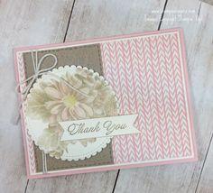 Stampin' Up! Heartfelt Blooms Sneak Peek Thank You card | Stamps – n - Lingers