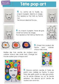 Art For Kids, Crafts For Kids, Pop Art, Mixed Media Tutorials, Ecole Art, Cool Art Projects, Andy Warhol, Art Plastique, Teaching Art