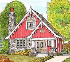 Fairytale Charm - 43069PF | Cottage, Vacation, Narrow Lot, 2nd Floor Master Suite, PDF | Architectural Designs