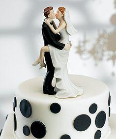 Wedding Cake Topper NY New York Giants Football Themed Couple Dancing Pretty Fan
