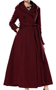 Womens Wool Trench Coat With Hooded Slim Fit by ZenbClothing Wool Trench Coat, Cool Coats, Stylish Coat, Winter Wear, Coats For Women, Double Breasted, Fashion Brands, Windbreaker, Autumn Fashion
