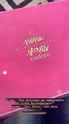 Niina Secrets, Linha Niina Secrets, Embalagens, Reels, makeup,