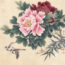 peonies chinese painting에 대한 이미지 검색결과