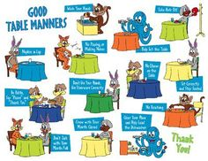 picture regarding Table Manners for Kids Printable titled 10 Optimistic Desk Manners - Principlesofafreesociety