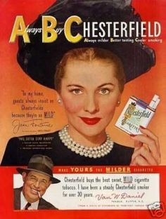 Chesterfield Cigarettes Ad with Joan Fontaine (1949)