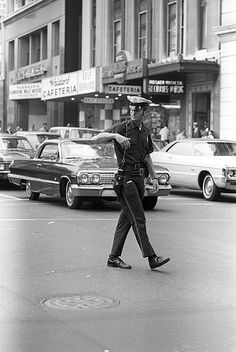 Boston, MA, 1971, Cop on Street. Nick DeWolf.