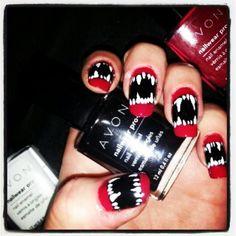 Vampire nails,  nailed it!