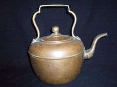 antique copper tea pot kettle gooseneck FREE SHIP  $50.00 OBO