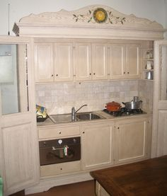 falegnameria bensi.... particolare cucina castagno di recupero ...
