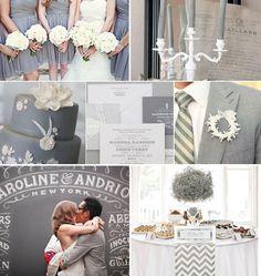 Enjoyed the pic ..Grey Wedding Inspiration - Grey Bridesmaid Dress, Grey Wedding Cake, Grey Wedding invitations, Grey Wedding Decor grey-wedding