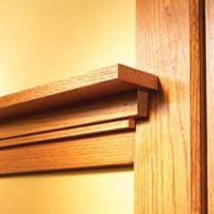 How to Install Craftsman Trim  Stylish Arts-and-Crafts woodwork built up from simple oak boards