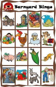 Animal Bingo Games