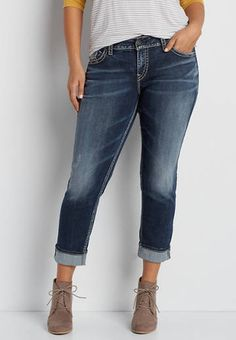 Vigoss® plus size cuffed ankle crop skinny jeans   maurices