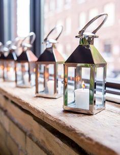 Styled Shoot: Chic Industrial Wedding Reception Ideas from Weddingstar - wedding centerpiece idea