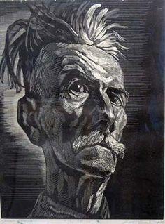 Victor Delhez, wood engraving