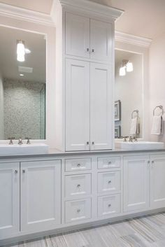 Find Out More On Unique Bathroom Vanities DIY - Bathroom Flooring Bathroom Renos, Bathroom Renovations, Bathroom Interior, Modern Bathroom, Bathroom Ideas, Bathroom Layout, Bathroom Organization, Warm Bathroom, Bathrooms Decor