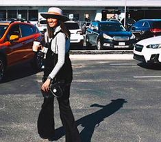 casual car shopping in the cutest black overall jumpsuit and hat!   #overalljumpsuit #springoutfit #summeroutfit #blackoutfits #hat #suburu #carshopping #homedecor #summerdays #shopping #placestoshop