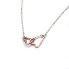 Tiny Double Heart Necklace, $145, now featured on Fab.