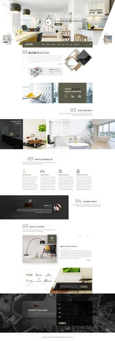 Buy ARCZONE - Interior Design, Decor, Architecture HTML Template by udayraj on ThemeForest. ARCZONE – Interior Design, Decor, Architecture Business HTML Template is build with latest bootstrap 3 Framework. Website Design Inspiration, Best Website Design, Site Web Design, Interior Design Website, Web Design Tips, Page Design, Concept Design Interior, Ux Design, Design Ideas