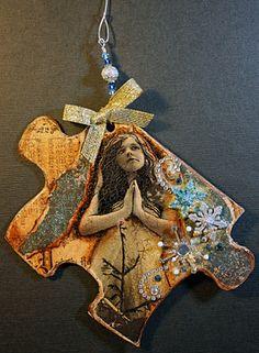 Altered puzzle pieces. Victoria's Art Visions