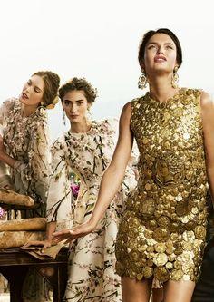 Catherine McNeil, Marine Deleeuw & Bianca Balti for Dolce & Gabbana