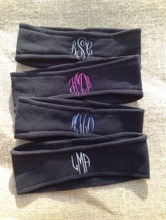 Monogrammed Fleece Headband - Ear Warmers - Ski Band - Ear Muff on Etsy, $8.00
