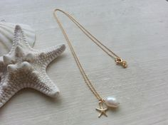 MarRee's-K026 14KGFネックレス☆ Star fish&Pearl素材:14KGF(ゴールドフィルド) 淡水パールサイズ:チ... ハンドメイド、手作り、手仕事品の通販・販売・購入ならCreema。