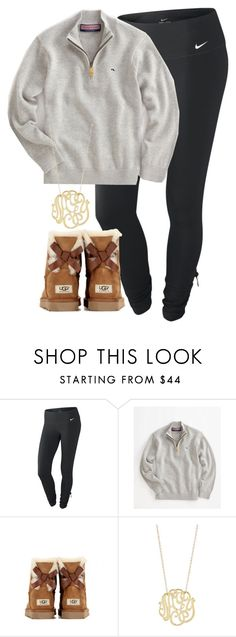 """""""{}"""" by whitegirlsets ❤ liked on Polyvore featuring NIKE, Vineyard Vines, UGG Australia and Ginette NY"""