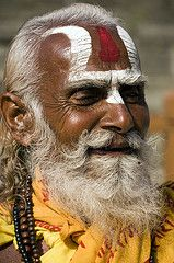 """In Hinduism, sādhu means """"good; good man, holy man"""") denotes an ascetic, wandering monk. Although the vast majority of sādhus are yogīs, not all yogīs are sādhus. The sādhu is solely dedicated to achieving mokṣa (liberation), the fourth and final aśrama (stage of life), through meditation and contemplation of brahman."""