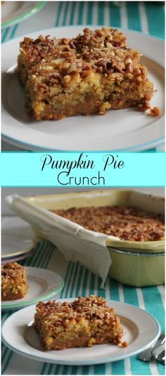 Pumpkin Pie Crunch-a perfect balance between pumpkin and my favorite sweet potato soufflé topping!