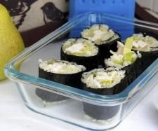 """Recipe Hidden Veggie """"Cauli Rice"""" Sushi - Back to School Lunchbox by Stone Soup - Recipe of category Main dishes - others Paleo Recipes, Soup Recipes, Cooking Recipes, Savory Snacks, Savoury Dishes, Chicken Sushi, Cauli Rice, Cauliflower Rice, Stone Soup"""