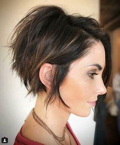 Short Bob Haircuts 2018-2019 and Stacked Cut with Highlights