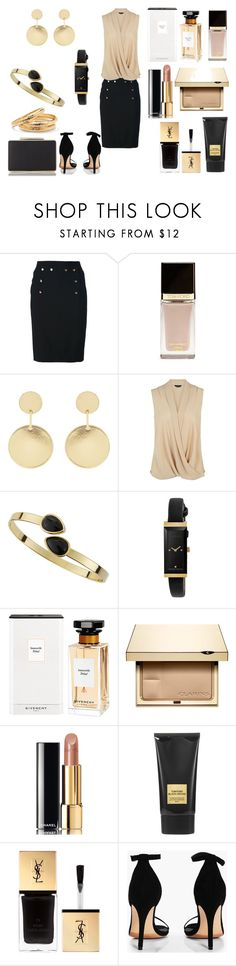 """Без названия #3545"" by southerncomfort ❤ liked on Polyvore featuring Chanel, Tom Ford, Accessorize, Jules Smith, Gucci, Givenchy, Clarins, Yves Saint Laurent, Boohoo and L.K.Bennett"